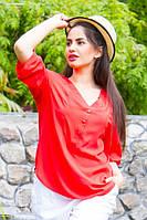 ТМ Ghazel Рубашка женская Жасмин красная Ghazel