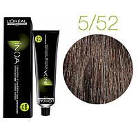 Краска для волос INOA-mix L'Oreal Pro 60 g 5.52 Светлый шатен махагоново-перламутровый