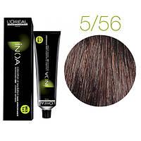 Краска для волос INOA-mix L'Oreal Pro 60 g 5.56 Светлый шатен махагоново-фиолетовый