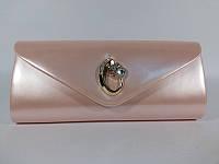 Клатч лаковый женский розовый Rose Heart 103029