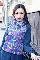 Ariona Свитшот женский синий с принтом Яркие краски
