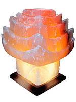 Бахмут Соляной светильник Китайский домик 6-7 кг цветная лампа