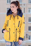 TM Ozze Куртка женская парка весенняя 3 желтая OZZE