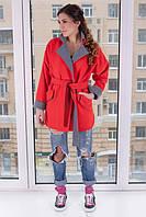 TM Ozze Пальто женское кашемировое Д 108 Люкс красный лосось OZZE