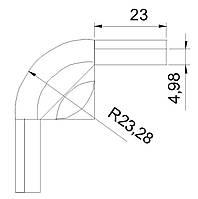 Угловое  соединение    для профиля  с шириной ламели   90 мм