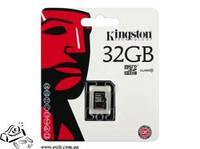 Карта памяти Kingston 32GB microSDHC Class 10 UHS-I 45R Flash Card Single Pack w/o Adapter
