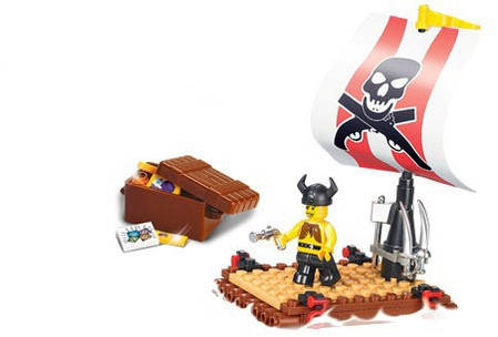 Конструктор SLUBAN Пиратская серия 64 детали, фото 2