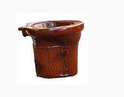 Унітаз пеньок для дачі вуличний коричневий