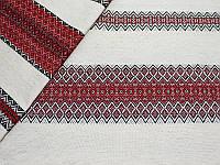 Отрез ткани лен натуральный - Вишиванка двусторонняя, 50x75 см, 1 шт
