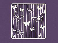 Чипборд от Магия творчества - Фоновый Бабочки квадрат, размер 10x10 см, 1 шт