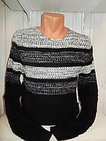 Свитер зимний Lee'Ecosse полосы 004/ купить оптом свитер зимний
