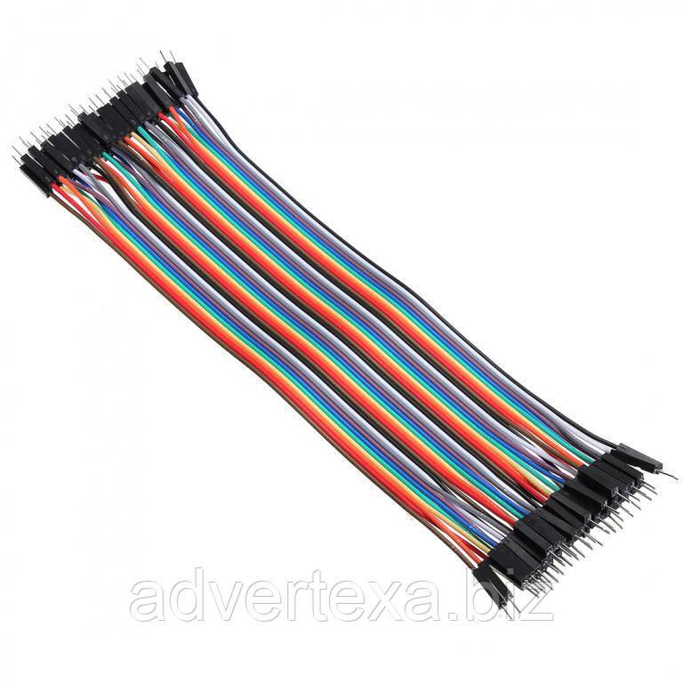 40x Dupont Дюпон кабель папа-папа 20см для Arduino