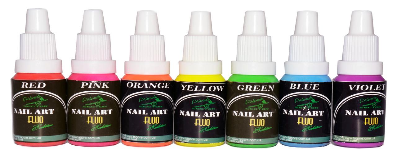 Флуоресцентная краска для ногтей Fluo* Nail-Art*