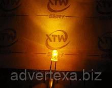 Світлодіод 3 мм жовтого світла LED