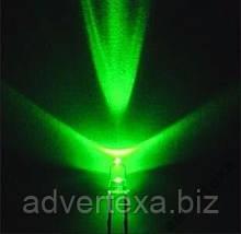 Світлодіод 3 мм зеленого світла LED