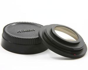 Переходник М42 — Nikon + коррекционная ПРОСВЕТЛЕННАЯ линза MC (фокус на бесконечность)