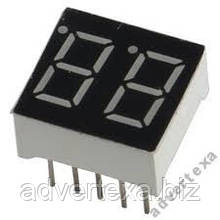 Цифровий індикатор 2 розряду по 7 сегментів, 0.36