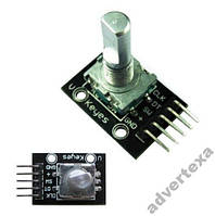 Модуль энкодер с кнопкой KY-040 для Arduino