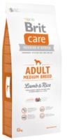 Сухой корм Brit Care Adult Medium Breed Lamb and Rice для взрослых собак средних пород 12 кг.