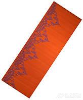 Коврик для йоги LiveUp PVC Yoga Mat with print, оранжевый