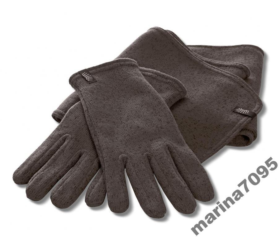 Выязанные  флисовые перчатки  р.9,5 от ТСМ Tchibo