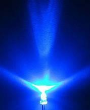 Світлодіод 3 мм синього світіння LED