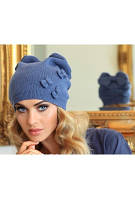 Молодежная женская шапка RENATA ТМ Камея, шерстяная, цвет серый, графит