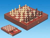 Шахматы в деревянном футляре 33х5х33см