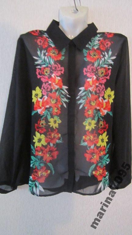 Жоржетовая блузка р. L от Takko Fashion Германия