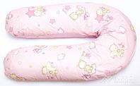 """Подушка для беременных и кормления ОП-15 OLVI с рисунком """"Звездочка на розовом"""""""