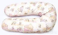 """Подушка для беременных и кормления ОП-15 OLVI с рисунком """"Мишка на розовом"""", фото 1"""