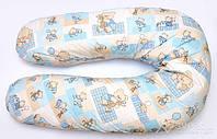 """Подушка для беременных и кормления ОП-15 OLVI с рисунком """"Мишка на голубом"""""""