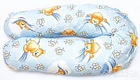"""Подушка для беременных и кормления ОП-15 OLVI с рисунком """"Мишка на светлом"""", фото 1"""