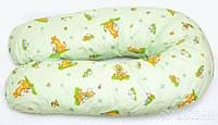 """Подушка для беременных и кормления ОП-15 OLVI с рисунком """"Ослик на салатовом, фото 1"""