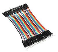 40x Dupont Дюпон кабель мама-папа 20см для Arduino, фото 1