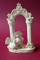 Свадебная фигура 2 голубя на алтаре 09779 (код 02283)