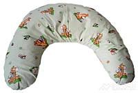 Подушка Лежебока для кормления с рисунком «Ослики на салатовом», фото 1