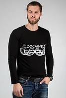 ТМ Ghazel Футболка мужская с длинным рукавом Кокаин черная Ghazel