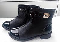 Ботинки под рептилию лак. носок 41р.