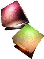Артемовск Соляной светильник Куб 9-10 кг цветная лампа