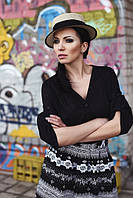 ТМ Ghazel Рубашка женская Жасмин черная Ghazel