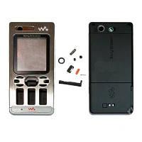 Корпус для Sony Ericsson W880 (black-silver) Качество