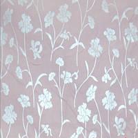 Тик Серебренные цветы на розовом фоне