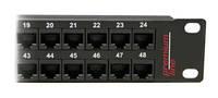 Premium Line 176144812 Патч-панель UTP, 48 портов 1U в комплекте с органайзером, кат.6, Dual Type IDC, цвет черный