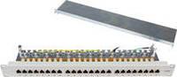 Premium Line 179212412 Патч-панель FTP, 24 порта 1U, кат.6A, Dual Type IDC, цвет черный