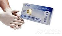 Перчатки мед. смотровые латексные без пудры, текстурированные, н/ст., 100 пар р. L , Vogt Medical