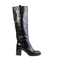 Сапоги женские кожаные Ell Passo 1610 черн., фото 1