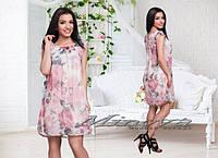 """Стильное молодежное платье мини """" Цветы шифон """" Dress Code"""