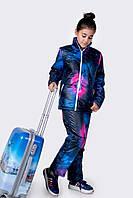 Костюм подросток Лыжный с штанами радужный