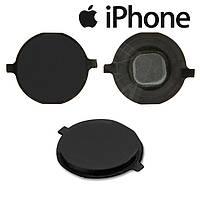 Пластик кнопки меню для iPhone 4S, черный, оригинал